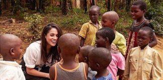 cropped Meghan on an earlier visit to Rwanda Image Instagram