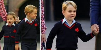 cropped Prince George was spotted pulling faces outside of his school Image PA REUTERS
