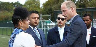 cropped Prince William Duke of Cambridge visits Hendon FC as part of the Heads Up mental health campaign Image Getty
