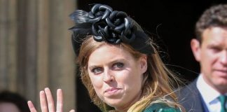 cropped Princess Beatrice at the wedding of Ellie Goulding last week Image John Rainford GC Images Getty Images