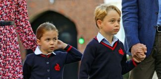 cropped Princess Charlotte and Prince George It was the two older Cambridge childrens first day at school Image PA