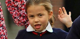 cropped Princess Charlotte attended her first day of school today Image PA