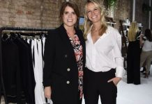 cropped Princess Eugenie pregnant She attended a pop up during New York fashion week Image GETTY