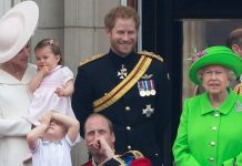 cropped The Royal Family watching the Trooping of Colour Image GETTY
