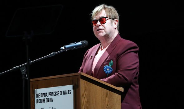Elton John said the pair fell out over a book Image GETTY
