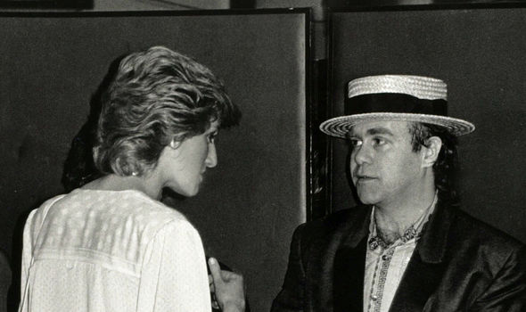 Elton and Diana in Image GETTY