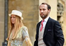In May James stepped out with Alizee to attend Lady Gabriella Windsor's royal wedding Image GETTY