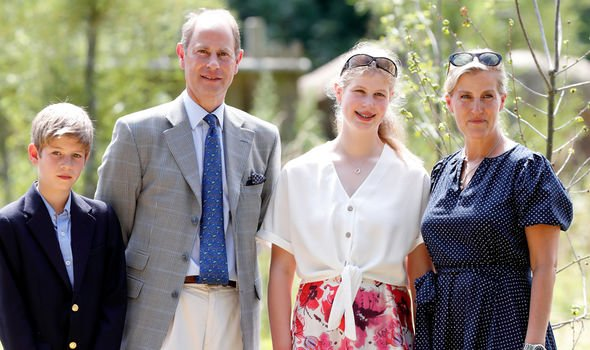 James Viscount Severn Prince Edward Lady Louise Windsor Sophie Countess of Wessex Image GETTY
