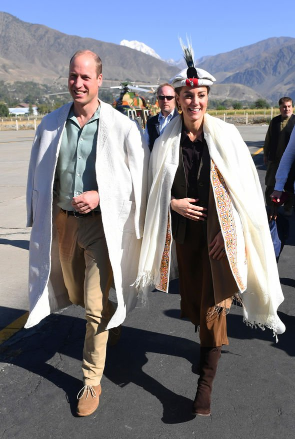Kate Middleton and Prince William are on day of the royal tour of Pakistan Image REUTERS