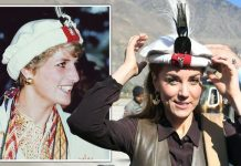 Kate Middleton donned a hat similar to that worn by Diana Image REUTERS