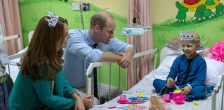 Kate Middleton dons tiara for special tea with young cancer patient in Pakistan Image GETTY