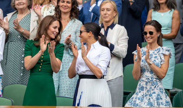 Kate Middleton vs Meghan Markle Kate and Meghan were all smiles at Wimbledon