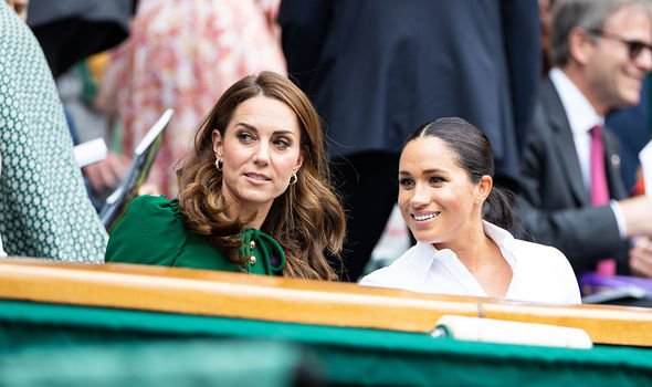 Kate and Meghan Markle put up a united front at Wimbledon in the summer