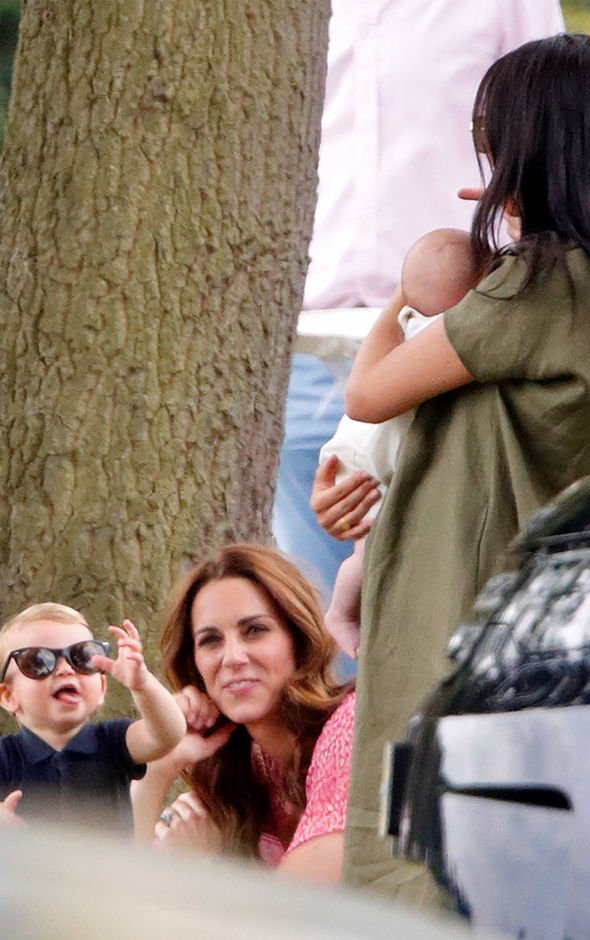 Kate and Meghan Markle were again spotted together during a charity polo match Harry and William played at