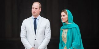 Kate and Prince William attended a reception by the British High Commission on Monday evening Image GETTY