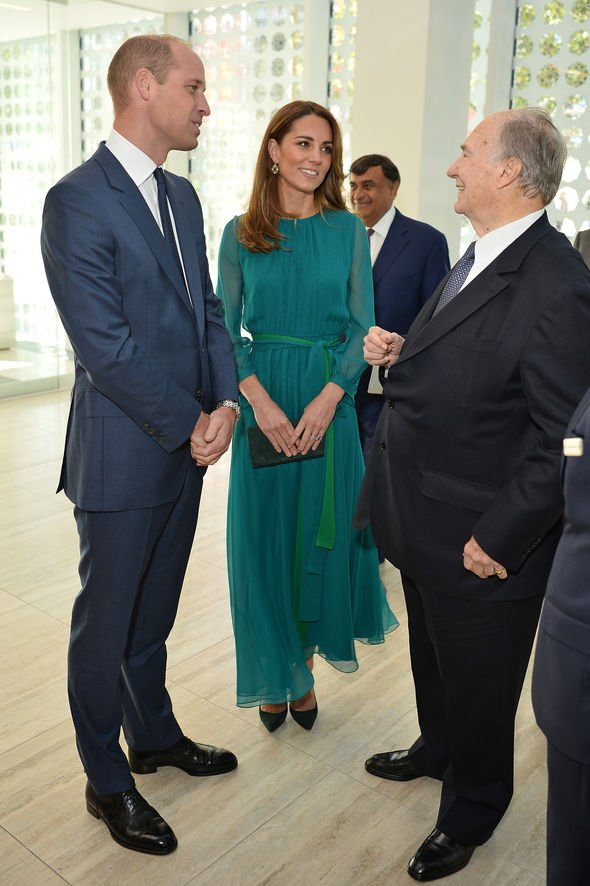 Kate and William met Imam Aga Khan Image GETTY