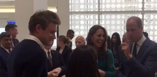 Kate was spotted laughing at a joke made by Prince William Image TWITTER RICHARD PALMER