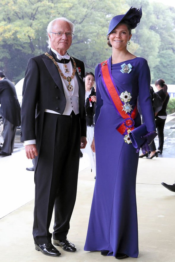King Carl XVI Gustaf and Crown Princess Victoria of Sweden Image GETTY