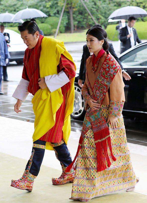 King Jigme Khesar Namgyel Wangchuck and Queen Jetsun Pema of Buthan Image GETTY