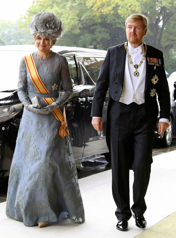 King Willem Alexander of Netherlands and Queen Maxima arriving at the palace Image GETTY