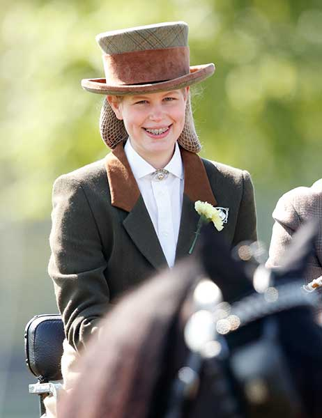 Lady Louise Windsor was pictured horse riding with her grandmother Photo C GETTY IMAGES