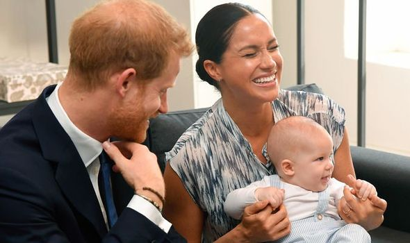 Meghan Markle Prince Harry and Archie in South Africa Image GETTY