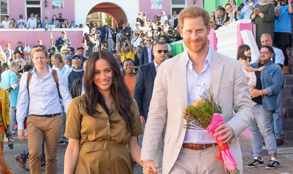 Meghan and Harry are currently on their royal tour of South Africa Image GETTY
