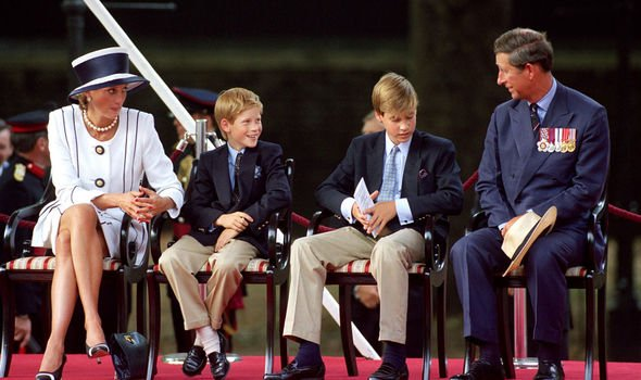 One of the last pictures of Charles and Diana together in Image Getty