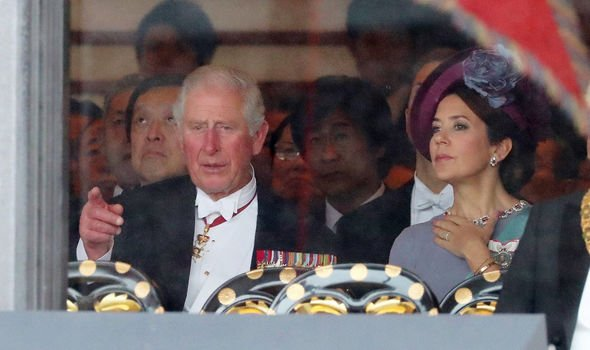 Prince Charles attended the ceremony without Camilla Image GETTY