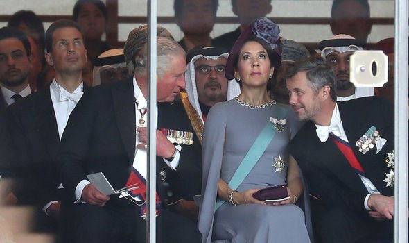 Prince Charles with Crown Princess Mary and Crown Prince Frederick of Denmark Image GETTY