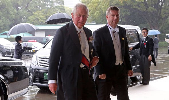 Prince Charles with the UK Ambassador to Japan Paul Madden Image GETTY