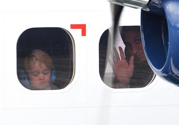 Prince George and Prince William flew on the same plane for the royal tour of Australia NewZealand Image Getty Images