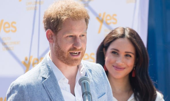 Prince Harry and Meghan Markle on their royal tour of South Africa Image GETTY