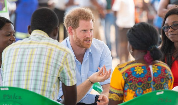 Prince Harry learned more about the pharmacy in a box initiative in Malawi Image GETTY