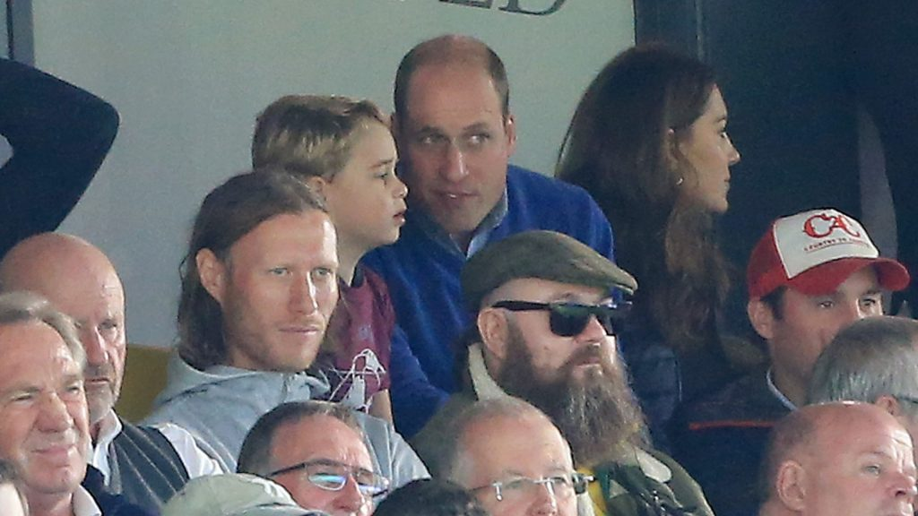 Prince William and Kate Middleton Took Prince George and Princess Charlotte to a Soccer Match Photo C SPEPHEN POND GETTY IMAGES