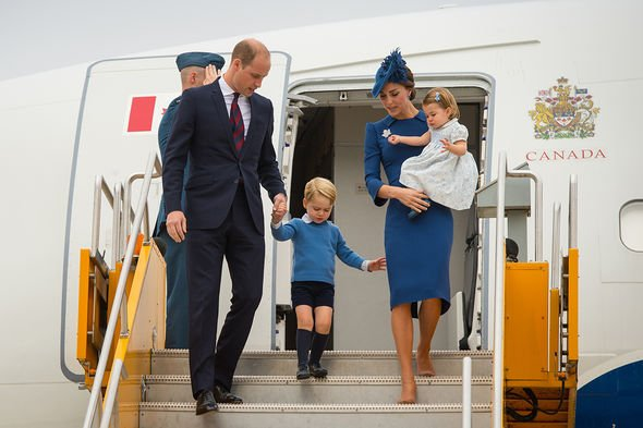 Prince William and Kate Middleton took Prince George and Princess Charlotte to Canada with them Image Getty Images