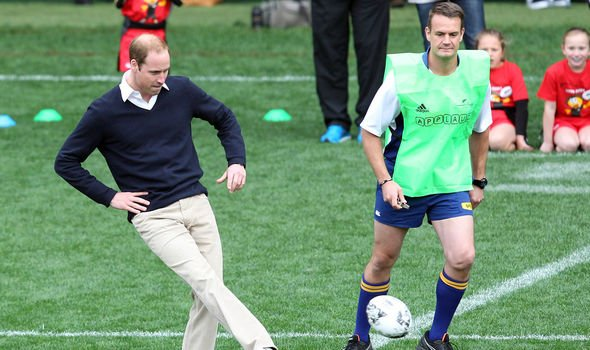 Prince William during the royal tour to New Zealand Image GETTY