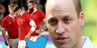 Prince William sent a message to the Welsh rugby team Image GETTY PA