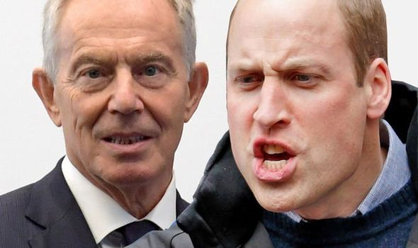 Prince William was said to be furious with Tony Blair Image GETTY
