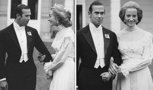 Prince and Princess Michael of Kents cicl wedding in Image Getty