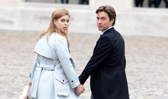 Princess Beatrice with fiancee Edoardo Mapelli Mozzi today Image EMPICS