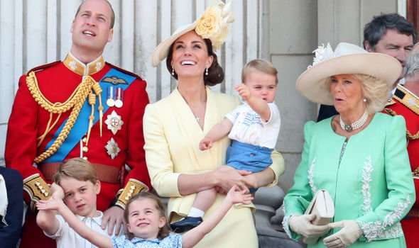Princess Charlotte The Cambridge family with the Duchess of Cornwall Image Getty