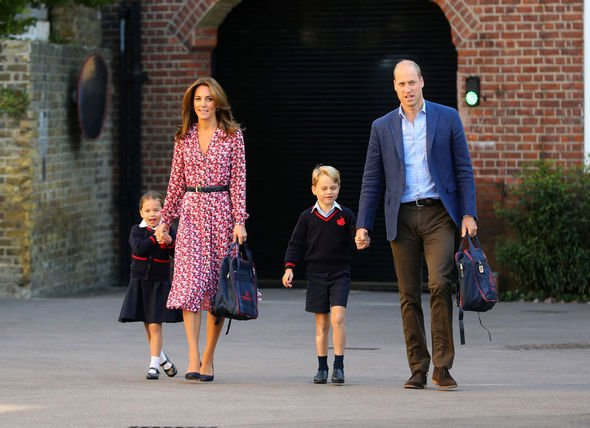 Princess Charlotte The kids first day of school Image Getty