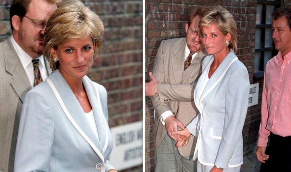 Princess Diana and Prince Charles on the day the divorce was finalised in Image Getty