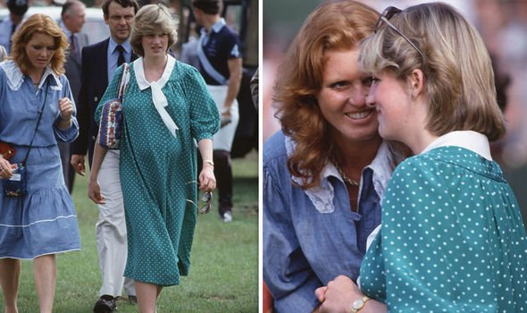 Princess Diana and Sarah Ferguson in Image Getty