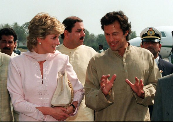 Princess Diana tribute Princess Diana being welcomed to Lahore Pakistan by Imran Khan in Image GETTY