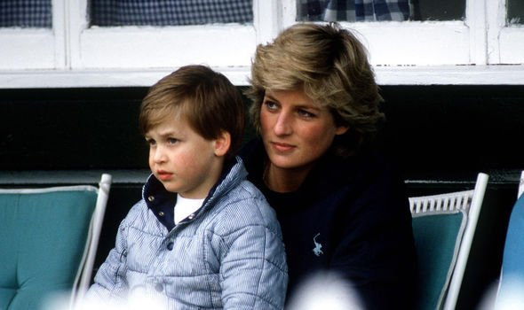 Princess Diana with a young Prince William Image GETTY