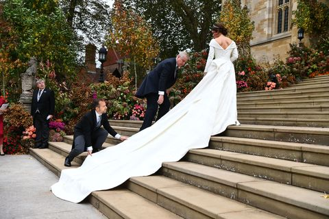 Princess Eugenie held her wedding at St George's Chapel in Windsor GETTY IMAGES