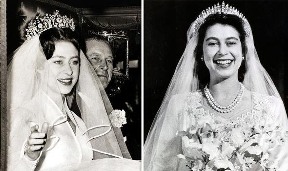 Princess Margaret And Queen Elizabeth Iis Wedding Tiaras Image