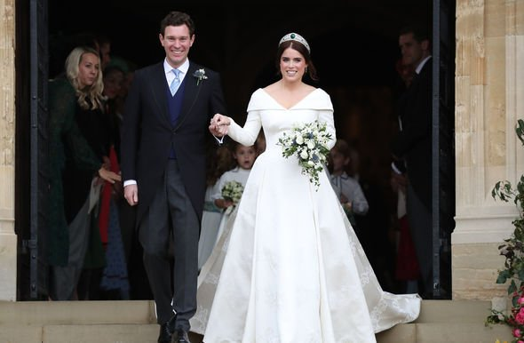 Royal wedding Princess Eugenie married at St Georges Chapel last autumn Image GETTY